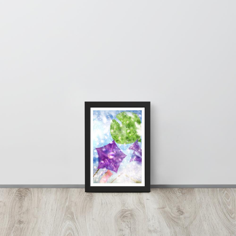 Flowers on Ice Framed Poster image mockup