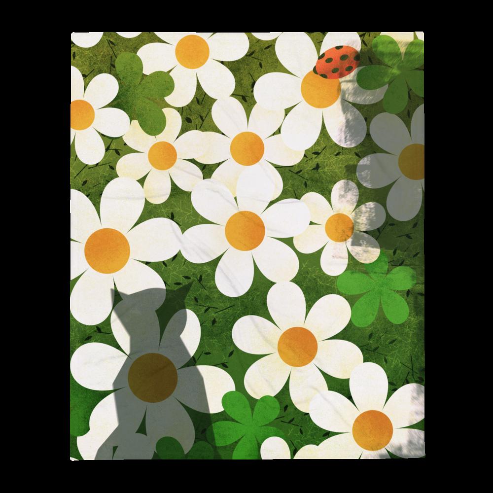 Daisy Rug Throw Blanket image mockup