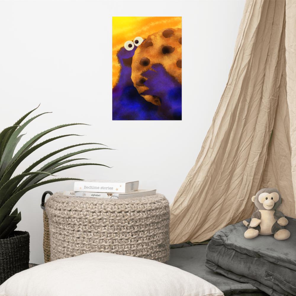 Cookie Monster Poster image mockup