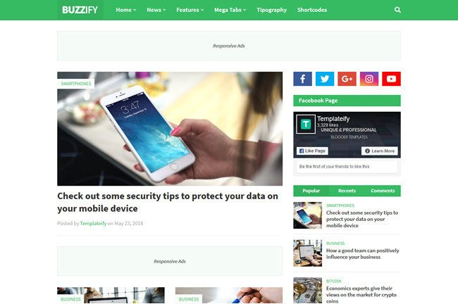 Buzzify Blogger Template