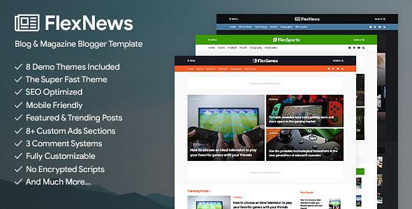FlexNews - Magazine Blogger Template