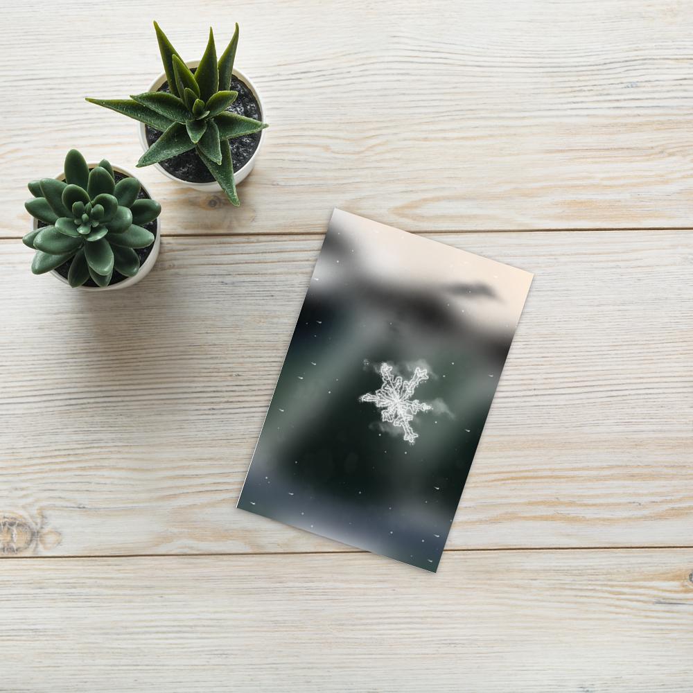 Holidays Snowflake Postcard image mockup