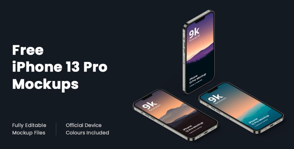 Free iPhone 13 Pro Mockup