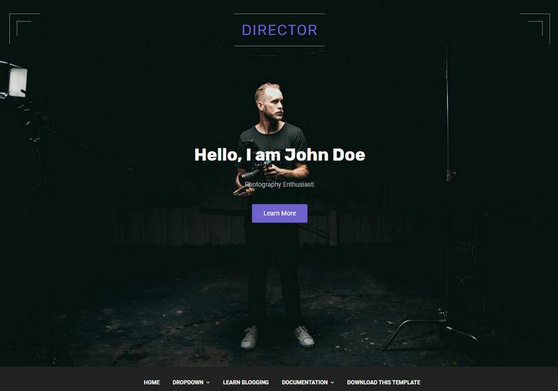 Director Blogger Template