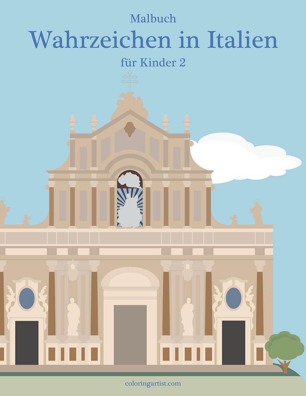 malbuch wahrzeichen in italien für kinder 2