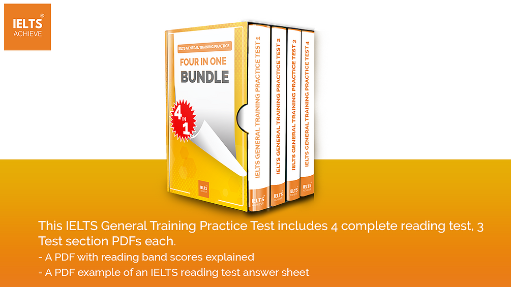 4 IELTS General Training Practice Test 3 Sections each with answers