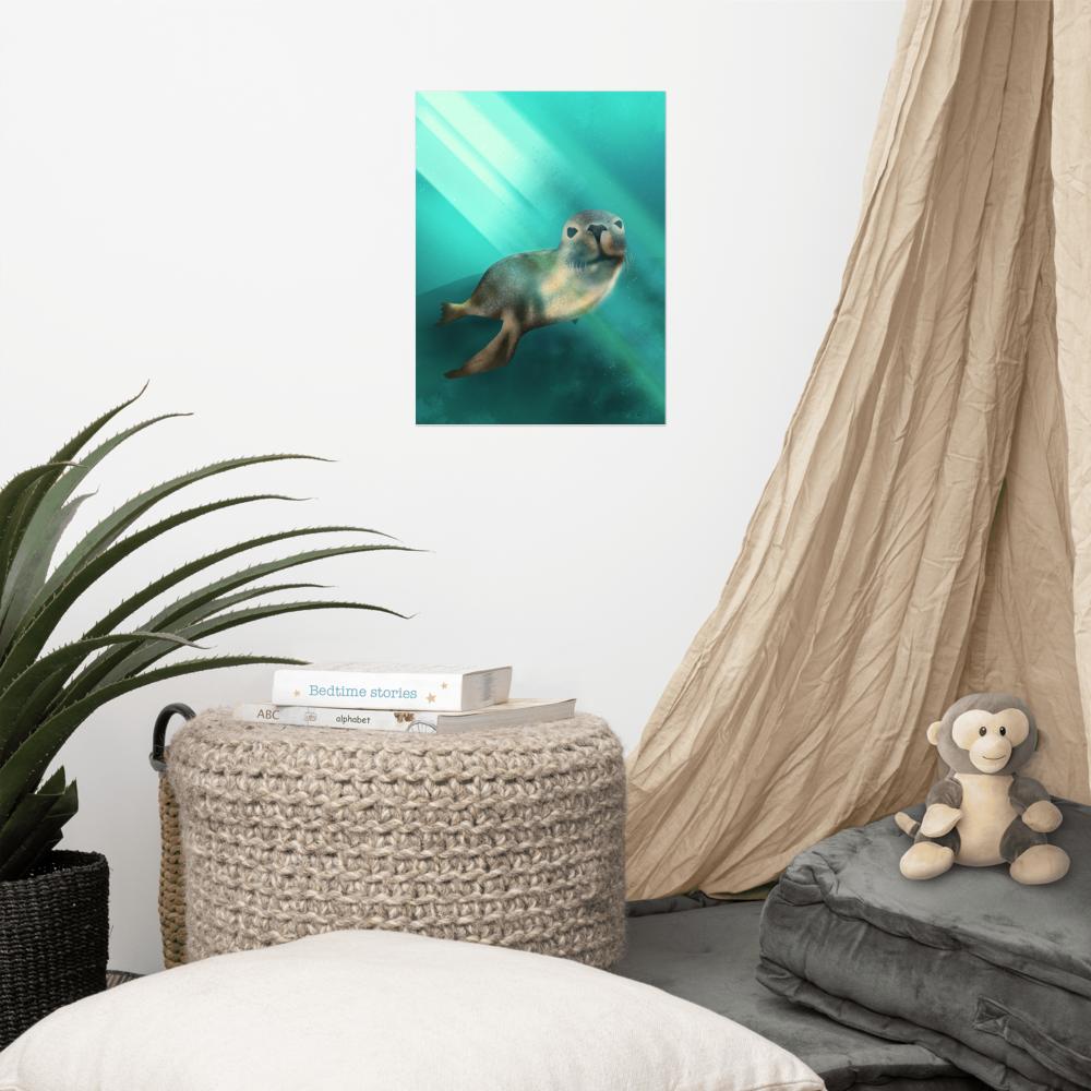 Australian Sea Lion Poster image mockup