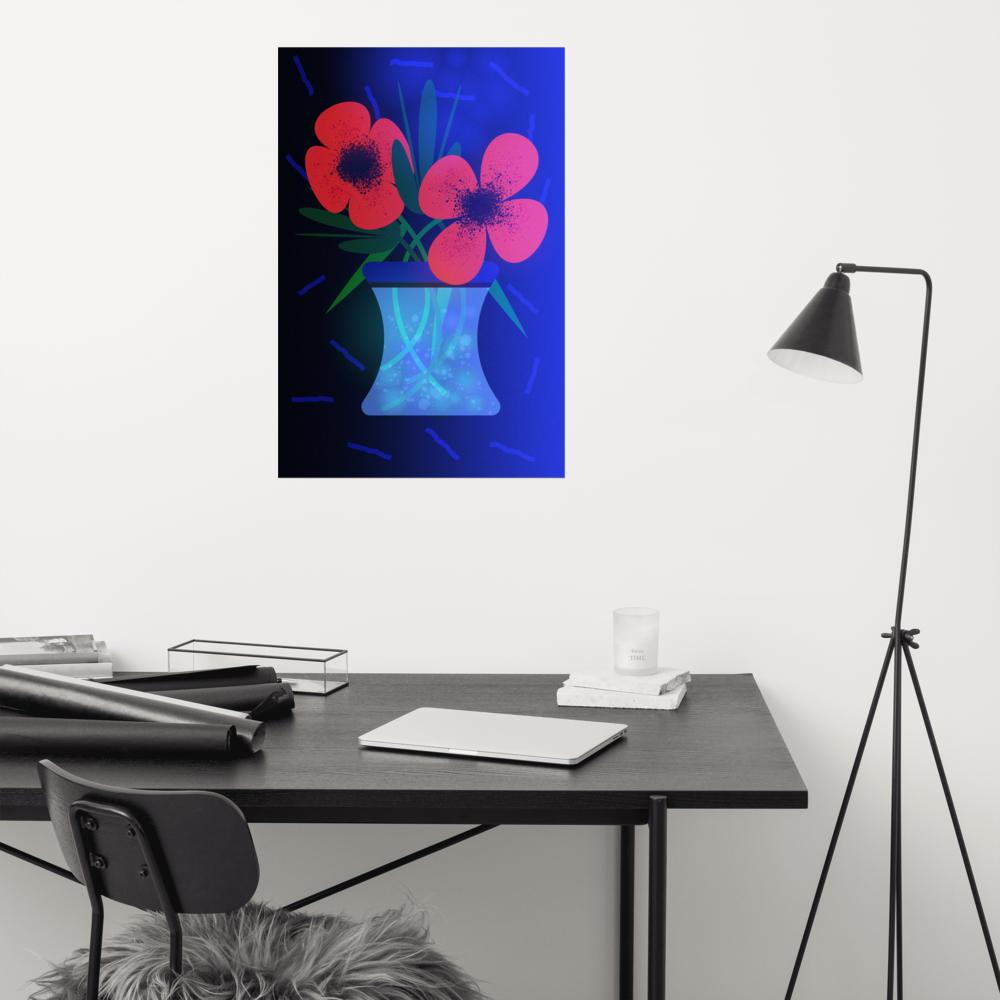 The Vase Poster image mockup