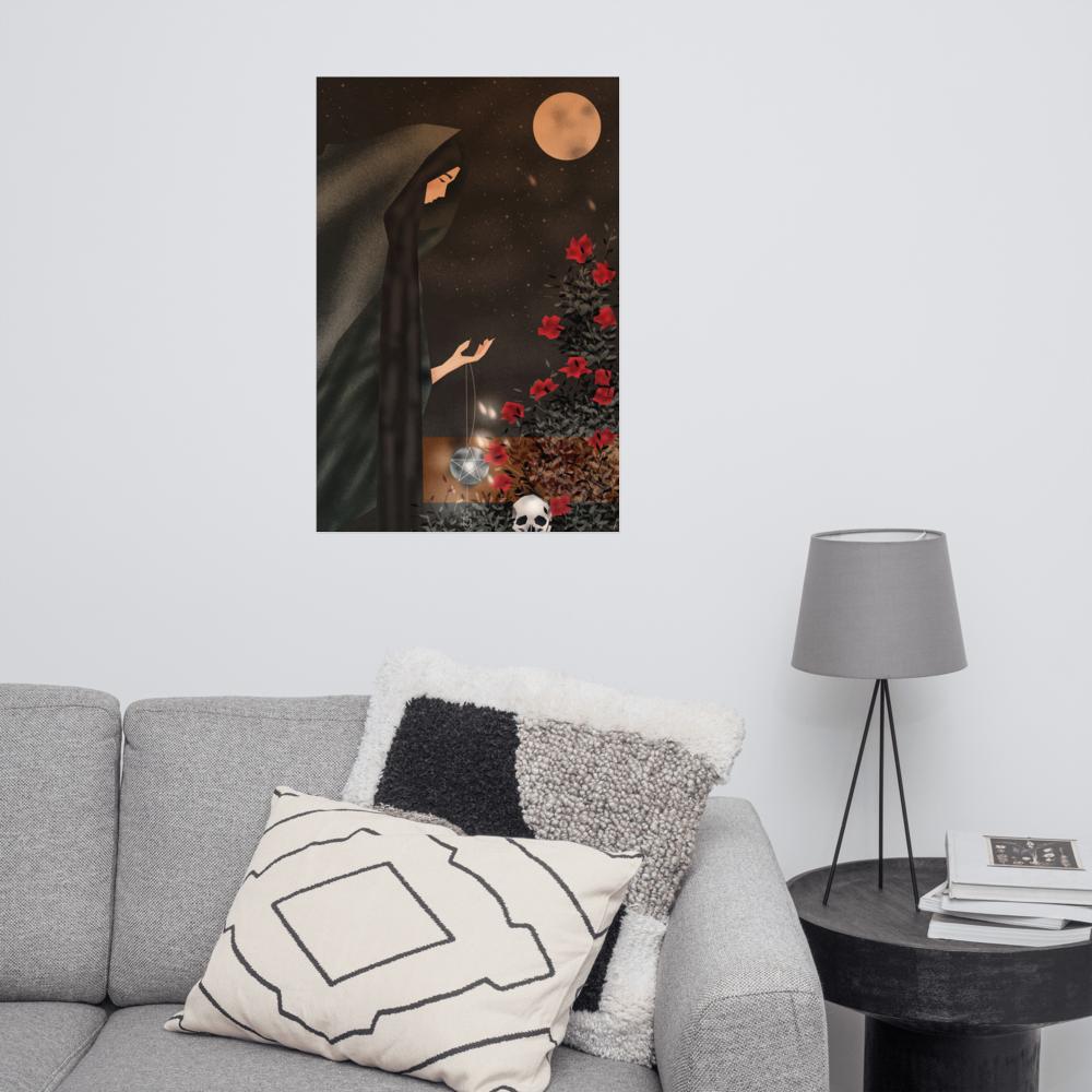 Halloween Full Moon Poster image mockup