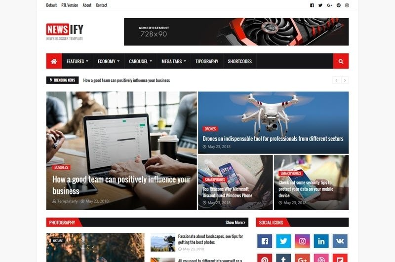 Newsify Blogger Template