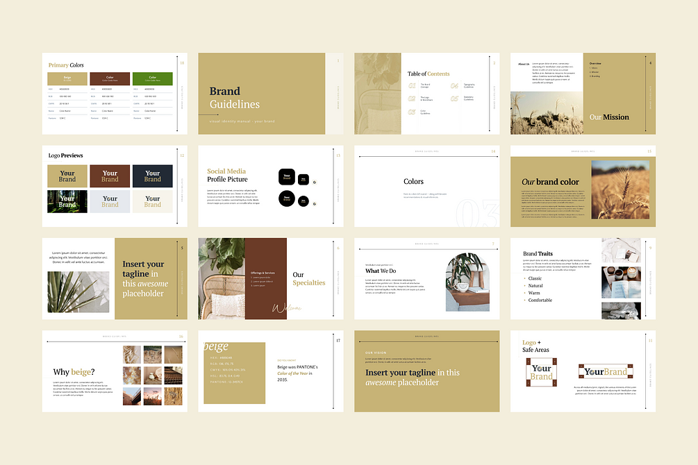 Brand Identity Guidelines Template for PowerPoint