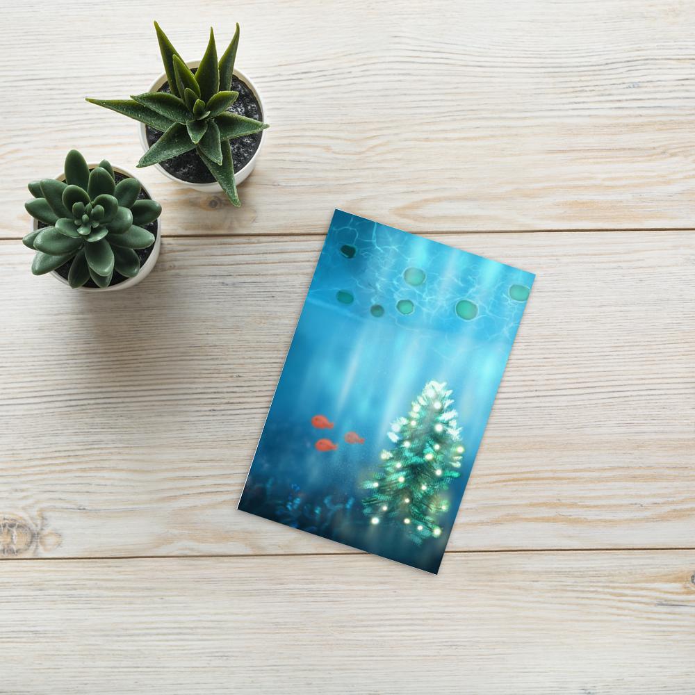 Holidays Christmas Tree Postcard image mockup