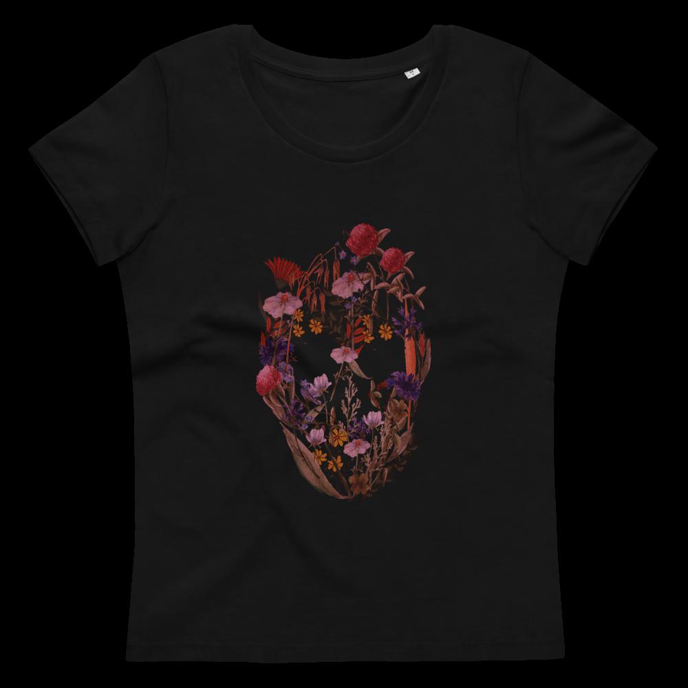 Flower Skull Women's fitted eco T-Shirt image mockup