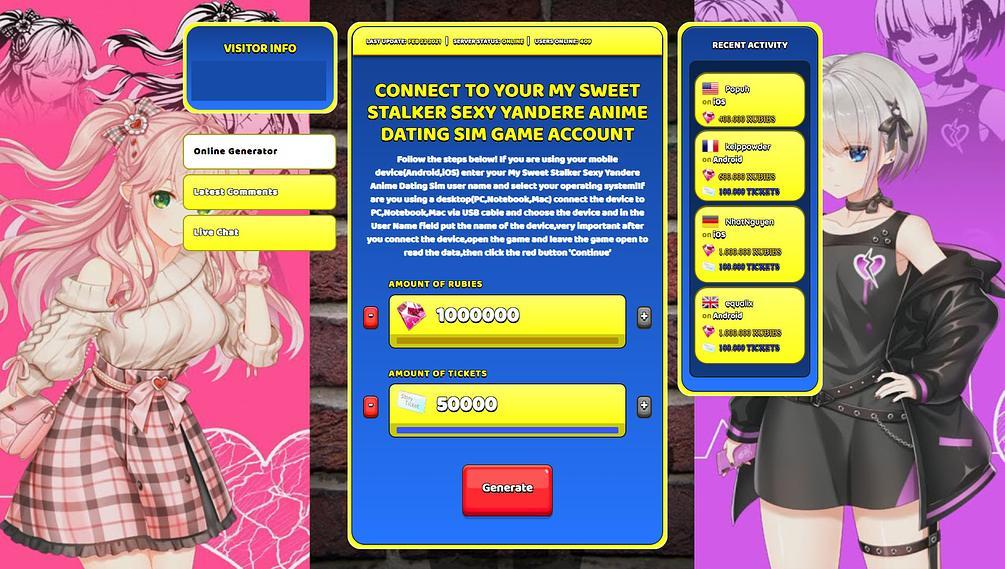 Simulator yandere dating Psycho Boyfriend