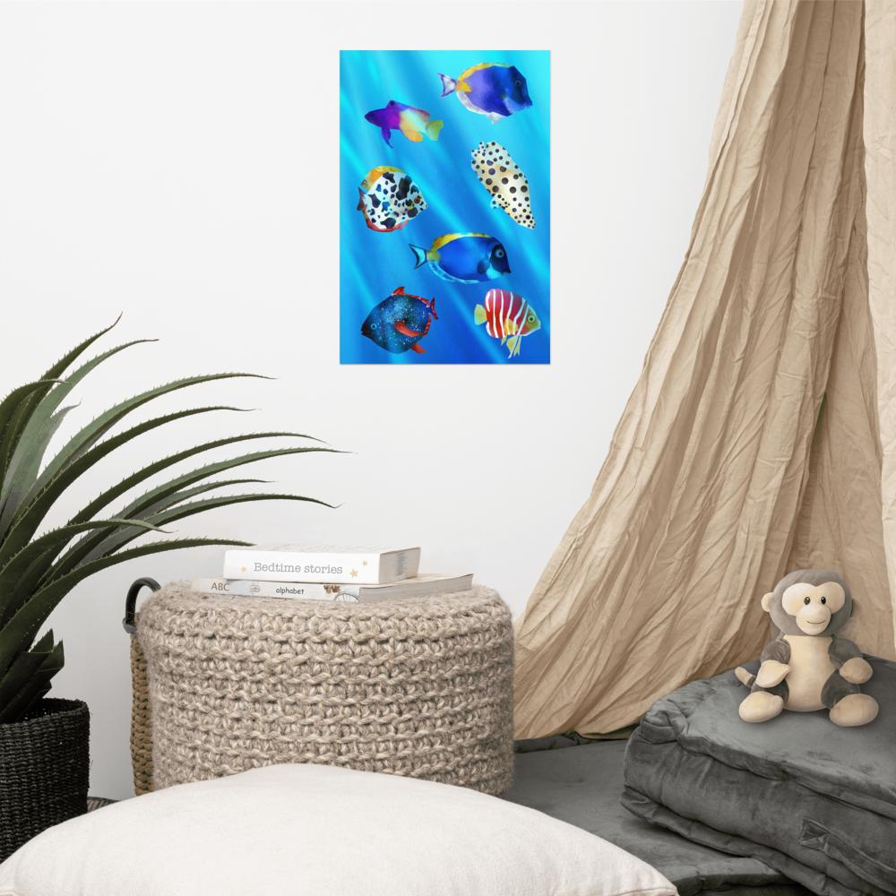 Tropical Fish Poster image mockup