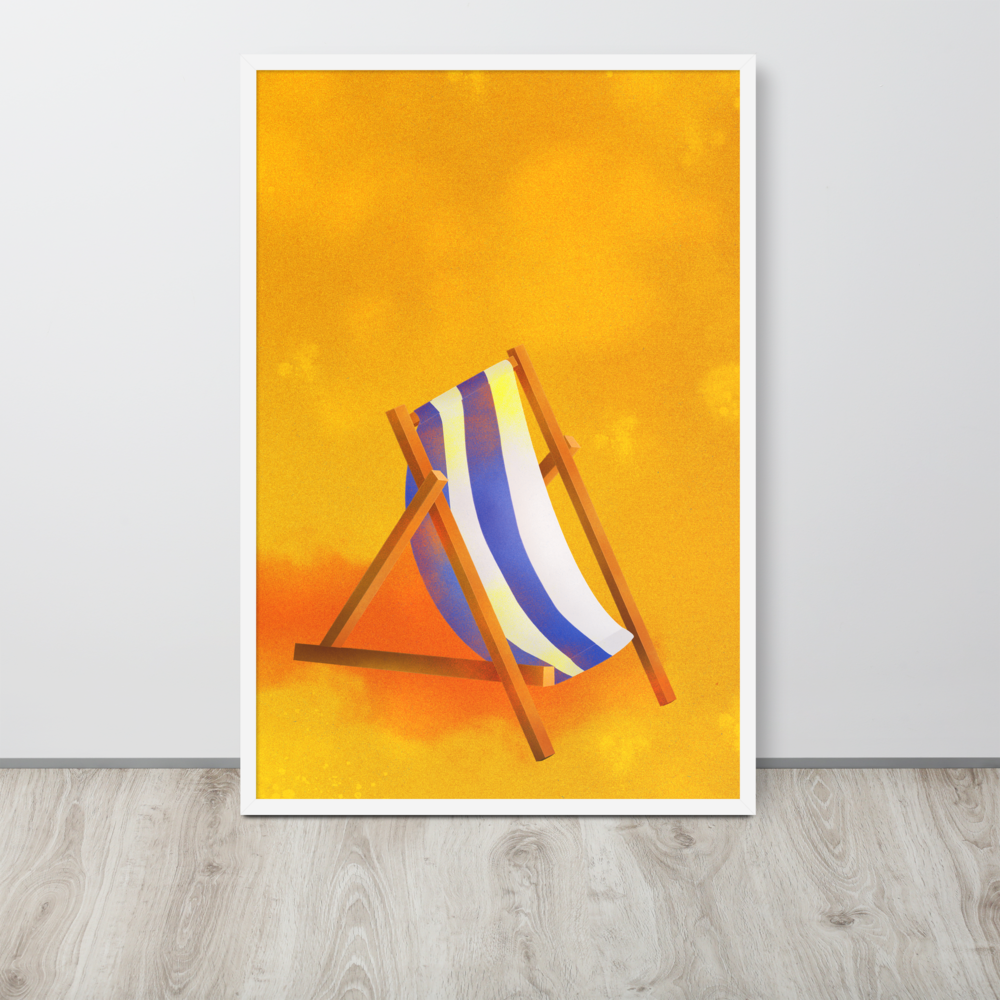 Beach Chair Framed Poster image mockup