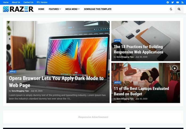 Razer Blogger Template
