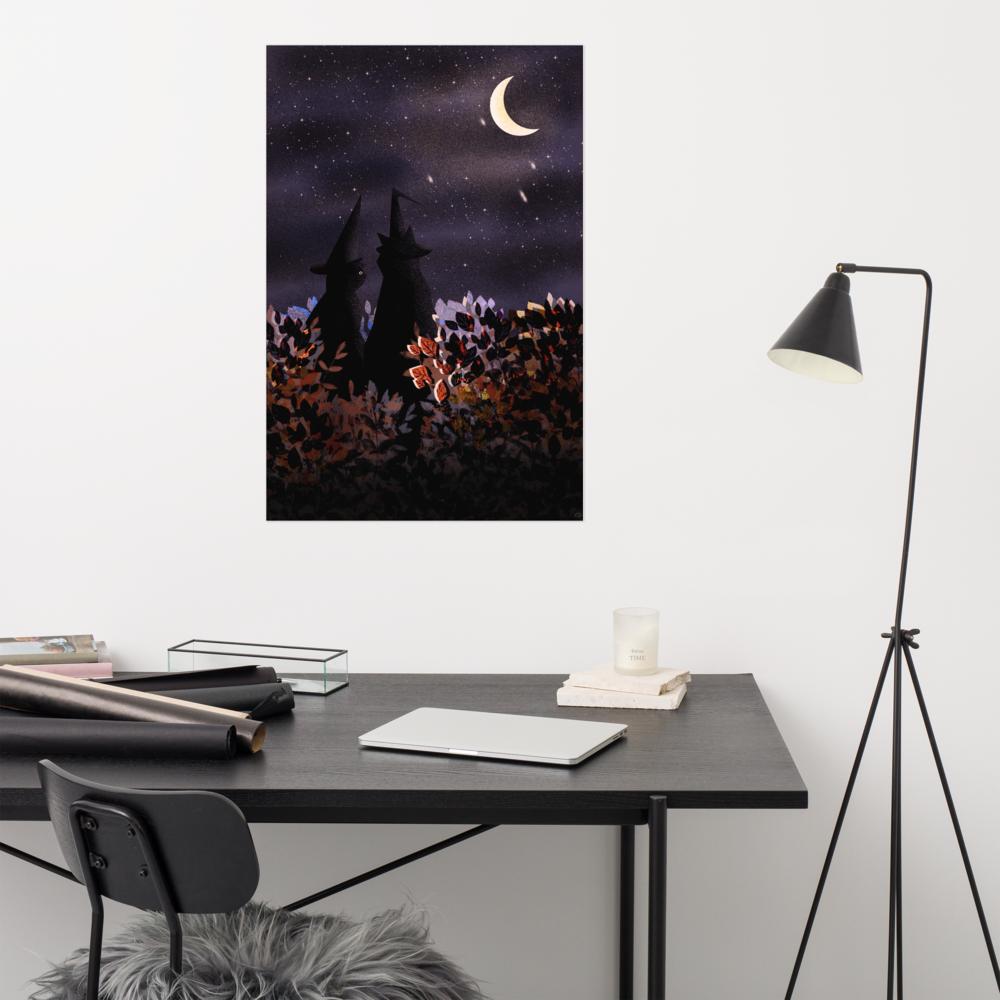 Halloween Magic cats Poster image mockup