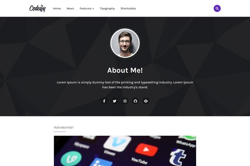 Codeify Blogger Template