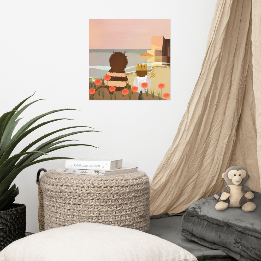 Where the wild things are Poster image mockup