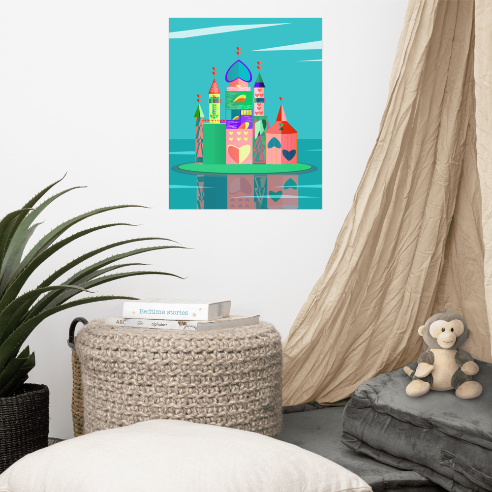 Solitary Castle Poster image mockup