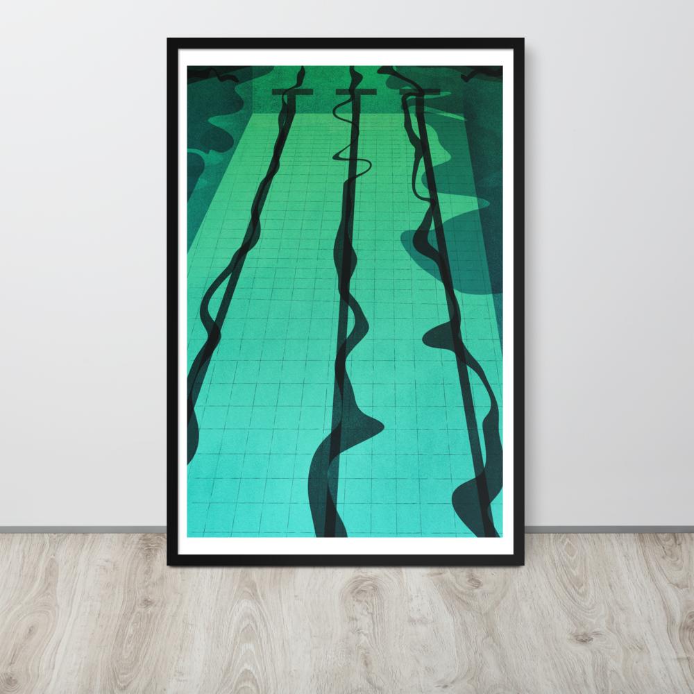 Pool Framed Poster image mockup
